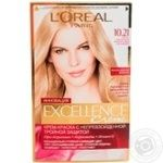 L'Oreal Paris Excellence Hair Color Cream light blond mother of pearl №10.21
