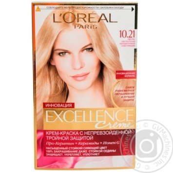 Color L'oreal Excellence pearl for hair