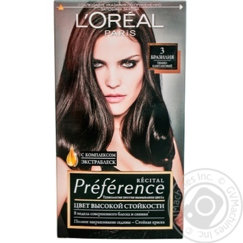 Краска для волос L'Oreal Recital Preference 3 Бразилия темно-каштановый