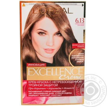 Крем-краска для волос L'Oreal Excellence Creme 6.13 темно-русый бежевый