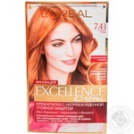 Color L'oreal Excellence copper-gold light brown for hair