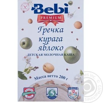 Каша детская Беби Премиум Гречка курага яблоко молочная сухая быстрорастворимая с 5 месяцев 200г