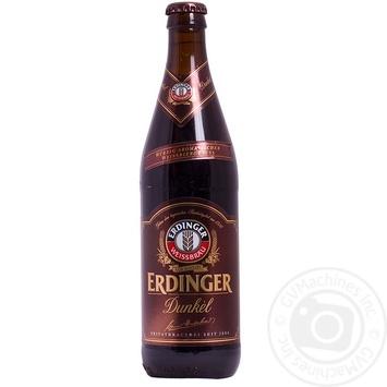 Пиво Эрдингер Дункель темное 5.6% 500мл Германия