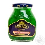 Fruit cherry Mikado green canned 314ml glass jar