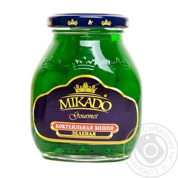 Fruit cherry Mikado green canned 314ml glass jar