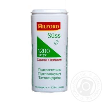 Сахарозаменитель (подсластитель) Милфорд на основе цикламата и сахарина в таблетках 1200шт 72г Германия