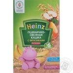 Baby dairy-free porridge Heinz Wheat and oat with fruits for 6+ months babies 200g Russia