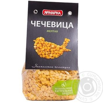 Чечевица Ярмарка Платинум желтая 350г Россия