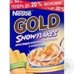 Хлопья кукурузные Нестле Голд Сноу Флейкс с сахаром 5 витаминов железо и кальций 300г Россия
