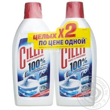 Средство Cillit для удаления известкового налета и ржавчины 2шт*0.45л - купить, цены на Восторг - фото 1
