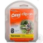 Засіб від комарів Clip-On OFF! з фен-системою та змінним картриджем Clip-On
