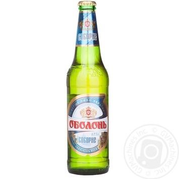 Пиво Оболонь Соборное светлое 4.9% 500мл Украина