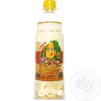 Напій Оболонь Живчик зі смаком груші безалкогольний соковмісний сильногазований пластикова пляшка 500мл Україна