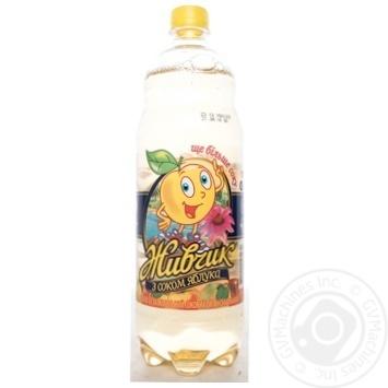 Скидка на Напиток Оболонь Живчик с соком яблока безалкогольный сокосодержащий сильногазированный пластиковая бутылка 1000мл Украина