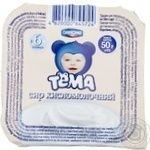 Cottage cheese Tema sour for 6+ months babies 5% 50g plastic cup Ukraine