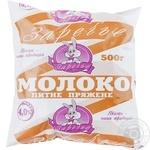 Milk Zarechye baked 4% 500ml sachet Ukraine