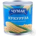 Vegetables corn Chumak canned 340g can Ukraine