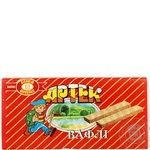 Waffles Biscuit-chocolate corporation Artek with biscuit 130g packaged