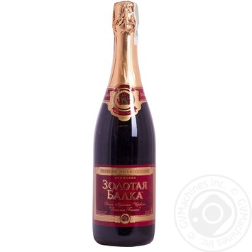 Вино игристое Золотая Балка Украинское красное полусладкое 12,5% 0,75л