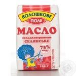 Масло Волошкове Поле Селянское сладкосливочное 73% 100г