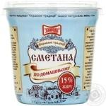 Sour cream Zlagoda Po-domashnyomu 15% 300g plastik cup Ukraine