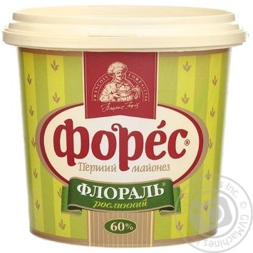 Mayonnaise Fores Floral 60% 1000g bucket Ukraine