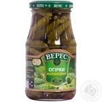 Vegetables cucumber Veres pickled 300g glass jar