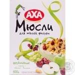 Мюсли АХА фруктовые изюм, яблоко, вишня 500г Украина