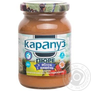 Скидка на Пюре Карапуз из яблок и вишен с сахаром детское с 2 месяцев 200г