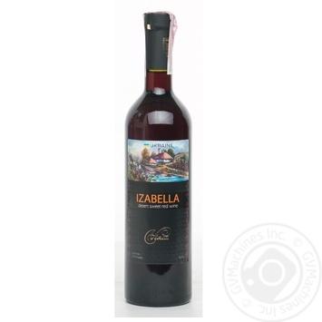 Wine izabella Vinia red sweet 16% 700ml glass bottle Ukraine