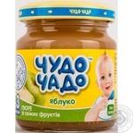 Детское питание для детей с 3-х месяцев Чудо-Чадо Пюре из яблок натуральное без сахара 90г