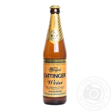 Unpasteurized wheat lager Oettinger Weiss 4.9%alc 500ml
