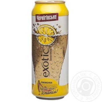 Пиво Черниговское Экзотик Бирмикс Лимон специальное светлое пастеризованное железная банка 3.8%об. 500мл Украина