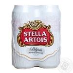 Пиво Stella Artois светлое ж/б 4*0,5л