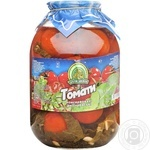 Vegetables tomato Dary laniv with greens canned 3000g glass jar