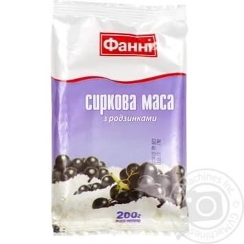 Cottage cheese Fanni with a raisin sour milk 9% 200g Ukraine