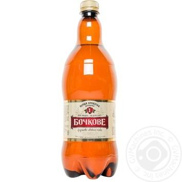 Pasteurized filtered lager Persha Pryvatna Brovarnya Bochkove plastic bottle 4.5%alc 1000ml Ukraine