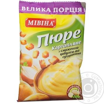 Пюре картопляне зі смаженою цибулею та сухариками Мівіна 45г