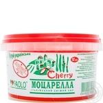 Сыр Паоло моцарелла сычужный мягкий в рассоле 36% 168г Украина