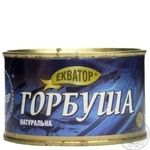 Fish pink salmon Ekvator canned 240g can