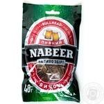 Бычок Пивной Nabeer солено-сушеный спинки без шкуры 40г