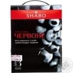 Вино Шабо Красное ординарное столовое полусладкое 12% 3000мл