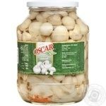 Mushrooms cup mushrooms Oscar pickled 1700ml glass jar Poland