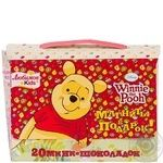Candy Malbi Winnie pooh with chocolate in milk chocolate 100g Ukraine
