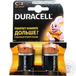 Элемент питания Duracell щелочной C 1,5V 2шт