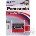 Батарейка Panasonic EVERYDAY POWER AAА блістер 2