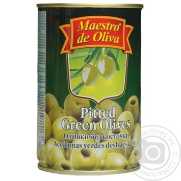 olive Maestro de oliva green pitted 300ml can