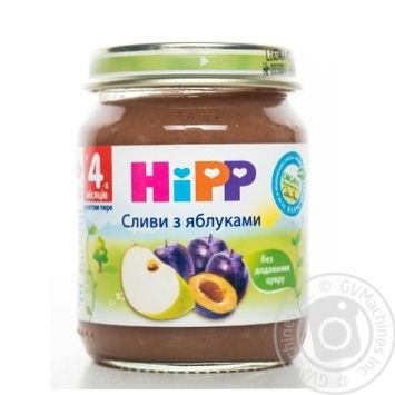 Пюре Hipp сливи з яблуками 125г