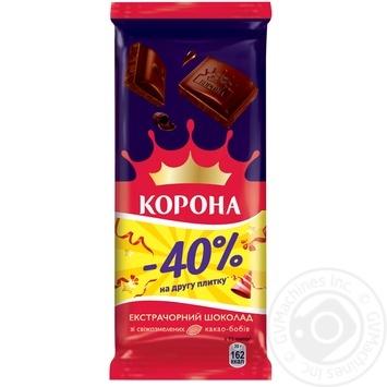 Шоколад Корона экстрачерный 1+1 170г - купить, цены на Novus - фото 3