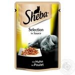 Корм Sheba з куркою в соусі 85г